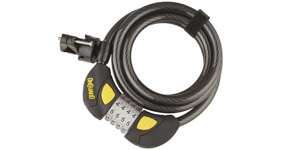 Onguard Dobermann Combo 8031GLO - Candado de cable - 185 cm Ø12 mm negro